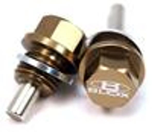 BLOX Racing Magnetic Drain Plug - Oil / 14x1.5mm (Fits Honda Mitsubishi Ford GM Mazda Suzuki)