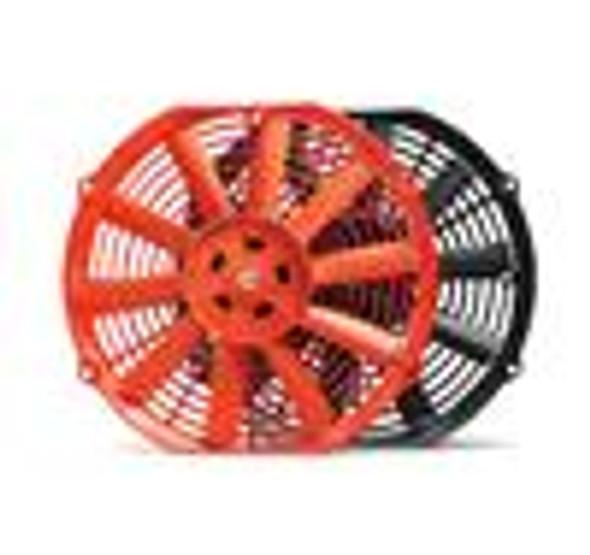 BLOX Racing 10inch Electric Slim Fan - Red