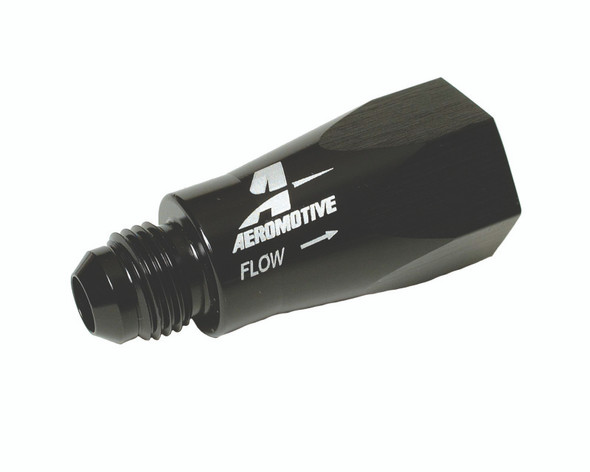 Aeromotive In-Line Full Flow Check Valve (Male -6 AN Inlet / Female -6 AN Outlet)