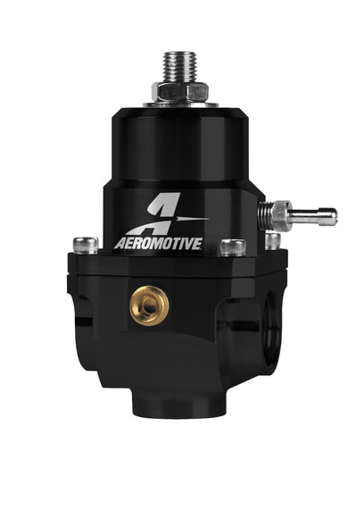 Aeromotive Adjustable Regulator - 35-75PSI - .188 Valve - (2) -08 Inlets/-08 Return