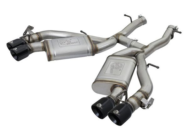 aFe MACHForce XP 3in 304 SS Axle-Back Exhaust Dual Exhaust (NPP) w/ Black Tips 16-17 Camaro SS V8