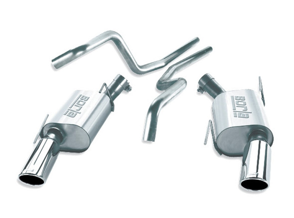 Borla 2005-2009 Mustang GT / Mustang Shelby GT500 EC-Type CB SS Single Round Rolled Tips Exhaust