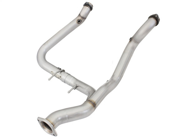 aFe Mach Force-Xp 3in Y-Pipe Race SS-409 2015 Ford F-150 EcoBoost V6 2.7L (tt)