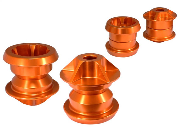 aFe Control PFADT Series Subframe Mount Set; Chevrolet Camaro 10-14 - Orange
