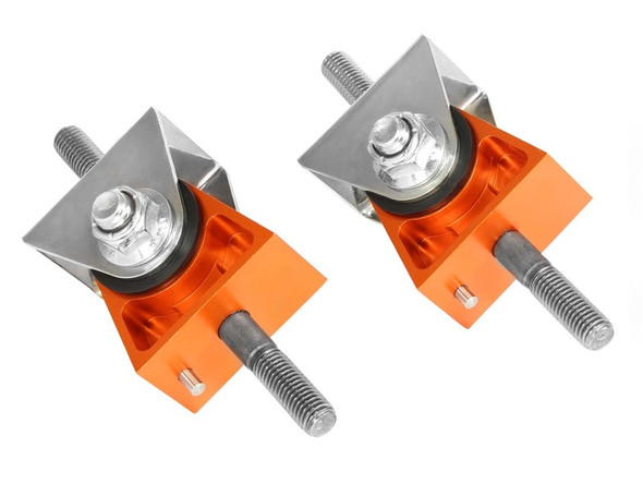 aFe Control PFADT Series Engine Mount Set; Chevrolet Corvette (C5/C6) 97-13 Orange