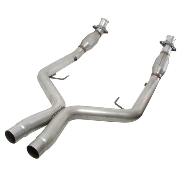 BBK 05-10 Mustang 4.6 GT High Flow X Pipe With Catalytic Converters - 2-3/4