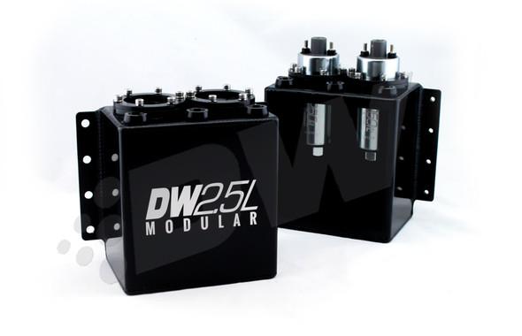 DeatschWerks 2.5L Modular Surge Tank (1-2 DW250il Fuel Pumps) (Pumps Not Included)