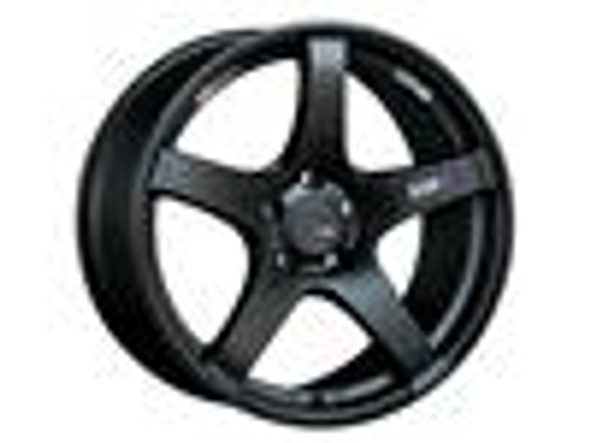 SSR GTV01 18x9.5 5x114.3 22mm Offset Flat Black Wheel Evo 8 9 X / G35 / 350z / 370z