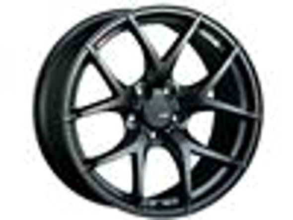SSR GTV03 18x9.5 5x114.3 22mm Offset Flat Black Wheel Evo 8 9 X / G35 / 350z / 370z