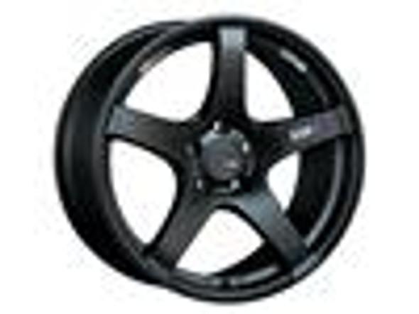 SSR GTV01 18x10.5 5x114.3 15mm Offset Flat Black Wheel Evo X / G35 / 350z / 370z