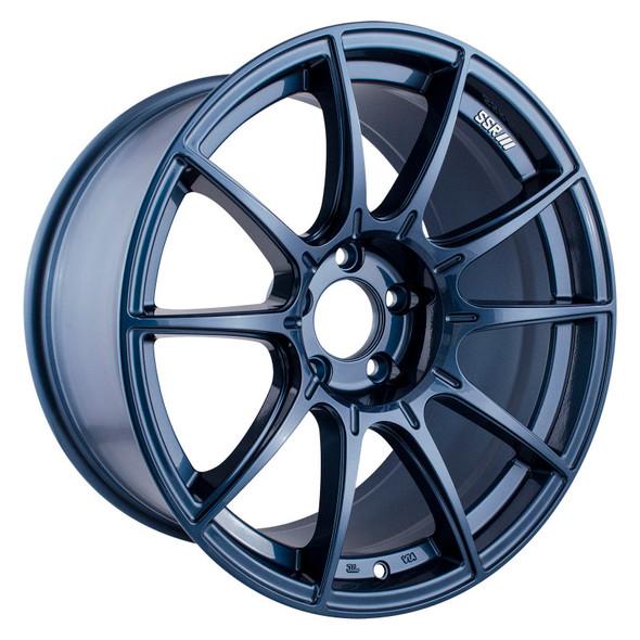 SSR GTX01 18x9.5 5x114.3 22mm Offset Blue Gunmetal Wheel (S/O, No Cancellations)