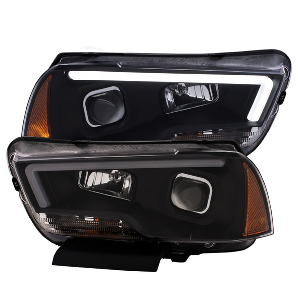ANZO 11-14 Dodge Charger Projector Headlights w/ Plank Style Design Black
