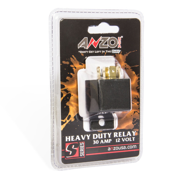 ANZO 12V 30 Amp Relay Universal 12 Volt DC 30 Amp Relay