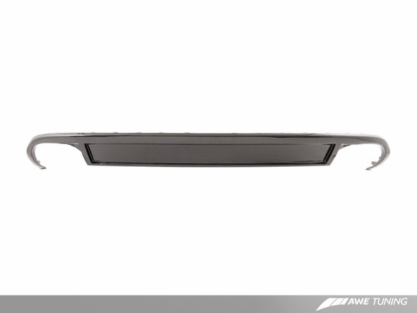 AWE Tuning B8 A4 Non S-Line Carbon Fiber Quad Tip Valance Conversion Kit