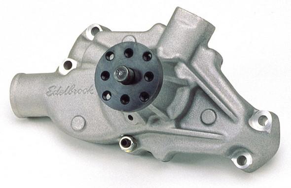 Edelbrock Water Pump High Performance Chevrolet 350 CI V8 Short Style Satin Finish