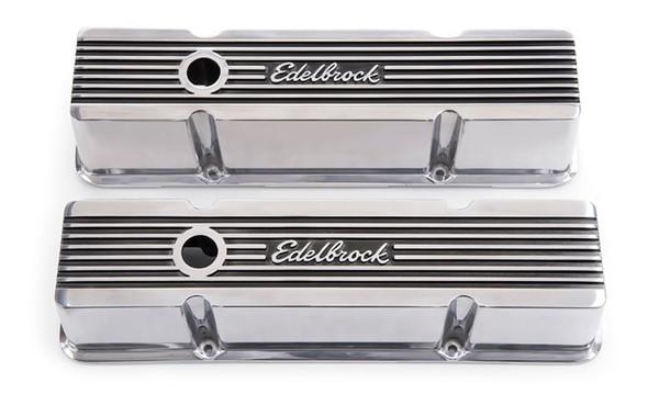 Edelbrock Valve Cover Elite II Series Chevrolet 1959-1986 262-400 CI V8 Tall Polished
