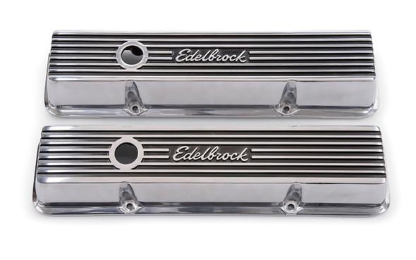 Edelbrock Valve Cover Elite II Series Chevrolet 1959-1986 262-400 CI V8 Low Polished