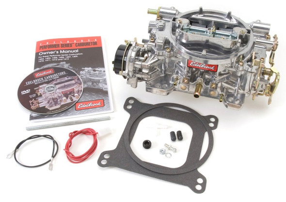 Edelbrock Carburetor Performer Series 4-Barrel 500 CFM Electric Choke Satin Finish