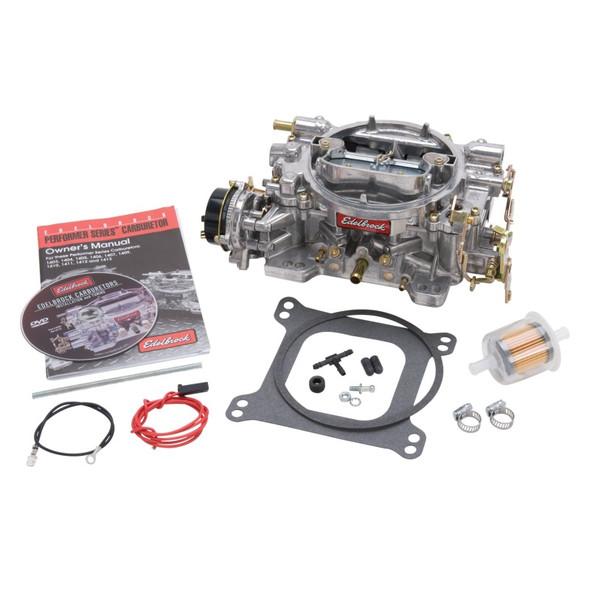 Edelbrock Carburetor Performer Series 4-Barrel 600 CFM Electric Choke Satin Finish