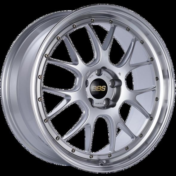 BBS LM-R 21x9 5x120 ET32 Diamond Silver Center Diamond Cut Lip Wheel -82mm PFS/Clip Required