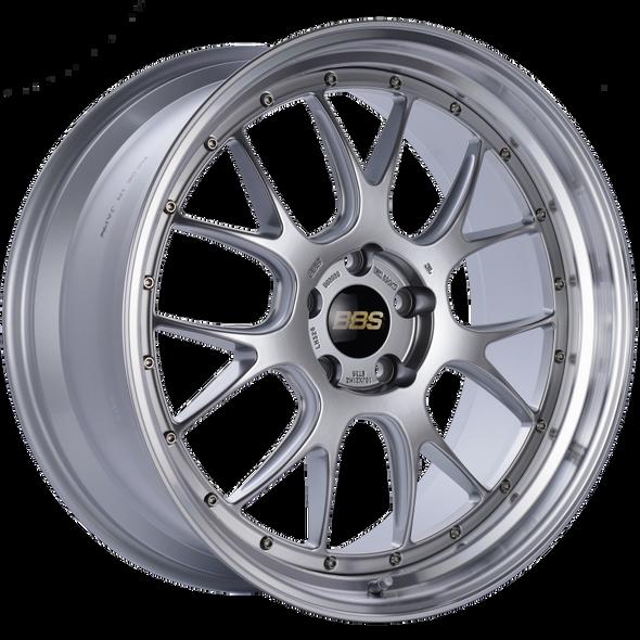 BBS LM-R 21x10 5x120 ET35 Diamond Silver Center Diamond Cut Lip Wheel -82mm PFS/Clip Required