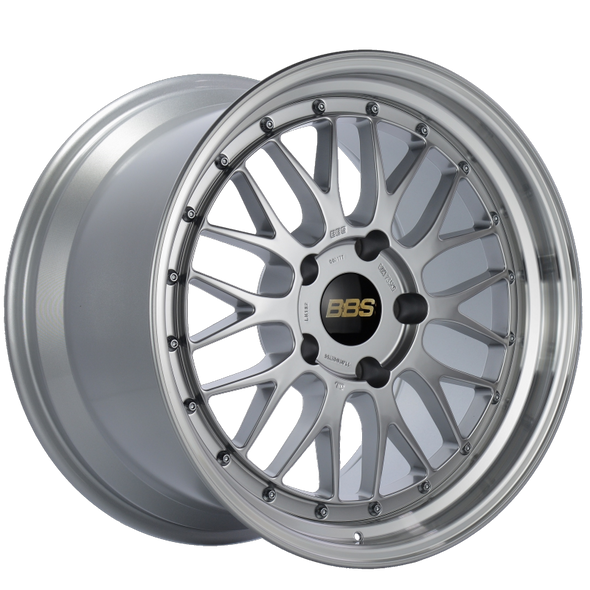 BBS LM 18x9 5x130 ET50 CB71.6 Diamond Silver Center Diamond Cut Lip Wheel