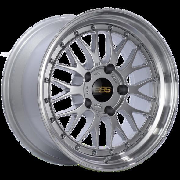 BBS LM 17x9 5x130 ET17 CB71.6 Diamond Silver Center Diamond Cut Lip Wheel