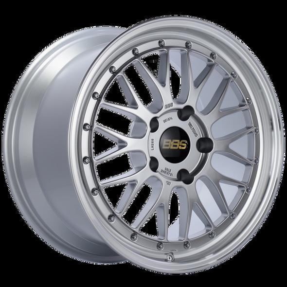 BBS LM 18x10 5x130 ET65 CB71.6 Diamond Silver Center Diamond Cut Lip Wheel