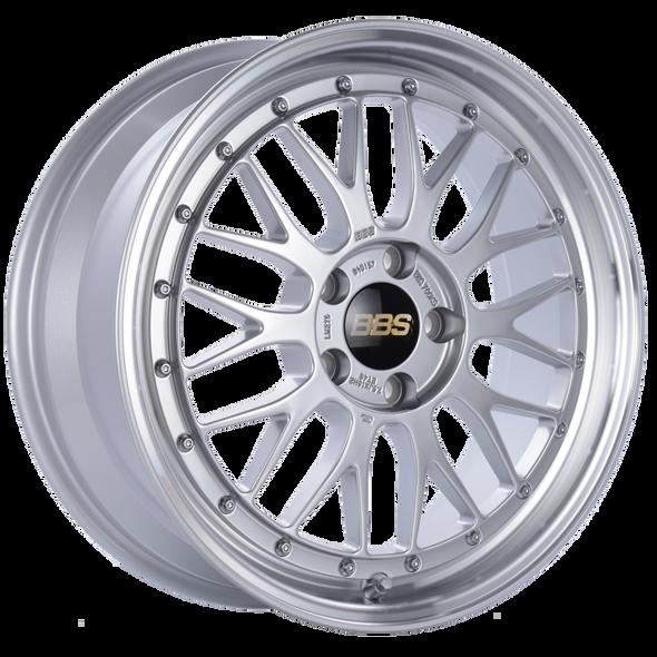 BBS LM 18x7.5 5x112 ET48 CB66.5 Diamond Silver Center Diamond Cut Lip Wheel