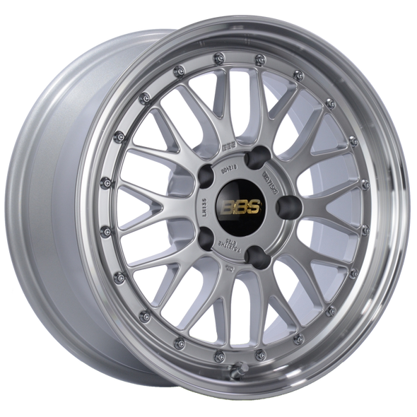 BBS LM 17x7.5 5x130 ET28 CB71.6 Diamond Silver Center Diamond Cut Lip Wheel