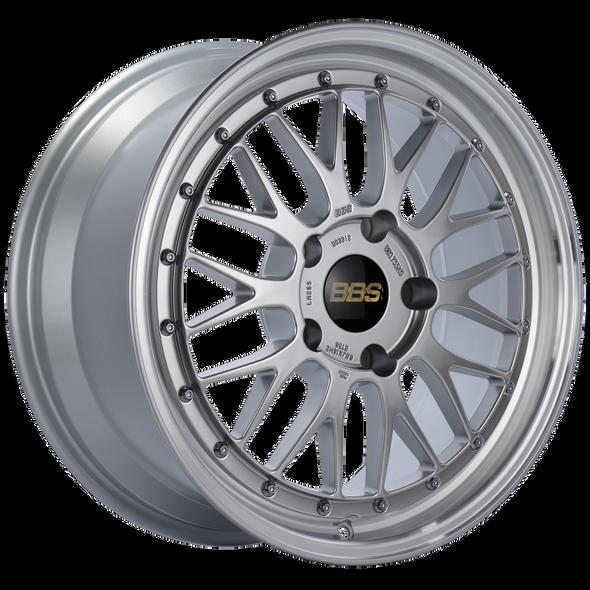 BBS LM 18x8.5 5x130 ET56 CB71.6 Diamond Silver Center Diamond Cut Lip Wheel