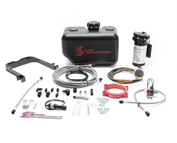 Snow Performance 14-17 Corvette 6.2L Stg 2 Boost Cooler Water Kit (SS Braid Line & 4AN)