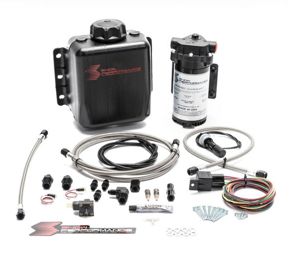Snow Performance Stg 1 Boost Cooler F/I Water Injection Kit (Incl. SS Braided Line and 4AN Fittings)