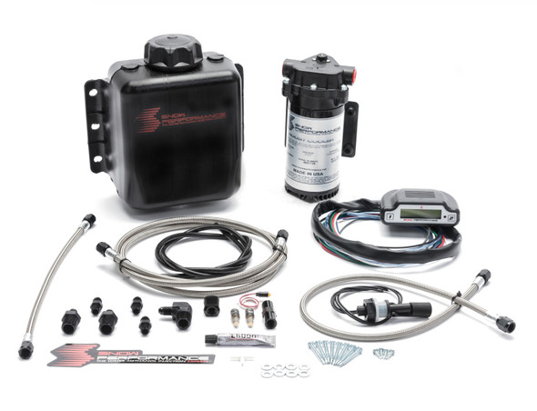 Snow Performance Stg 3 Boost Cooler EFI 2D MAP Prog. Water Injection Kit (SS Braided Line & 4AN)