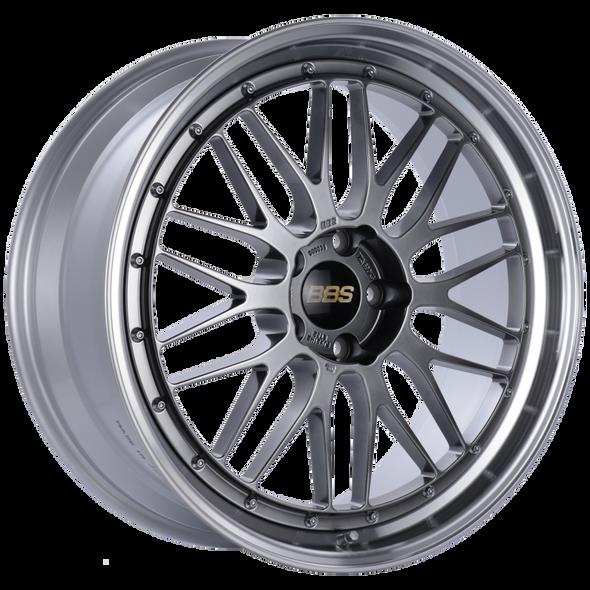 BBS LM 21x9 5x120 ET32 Diamond Black Center Diamond Cut Lip Wheel -82mm PFS/Clip Required