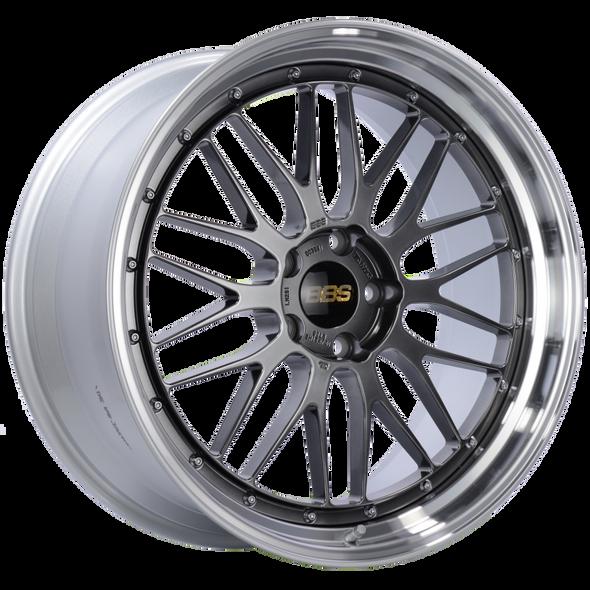 BBS LM 21x10 5x120 ET38 Diamond Black Center Diamond Cut Lip Wheel -82mm PFS/Clip Required