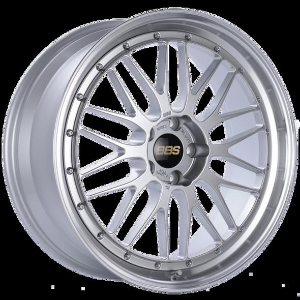 BBS LM 21x9 5x120 ET32 Diamond Silver Center Diamond Cut Lip Wheel -82mm PFS/Clip Required