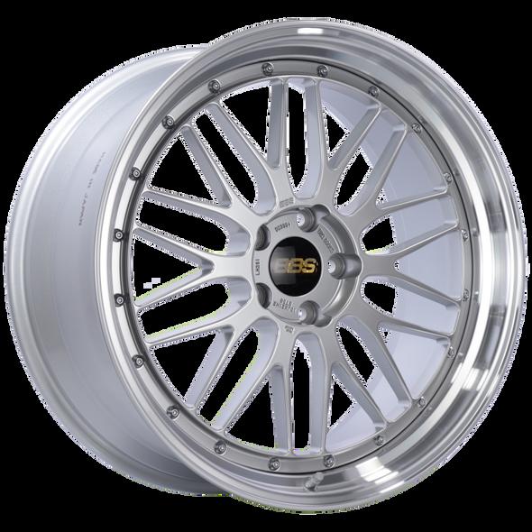 BBS LM 21x10 5x120 ET38 Diamond Silver Center Diamond Cut Lip Wheel -82mm PFS/Clip Required
