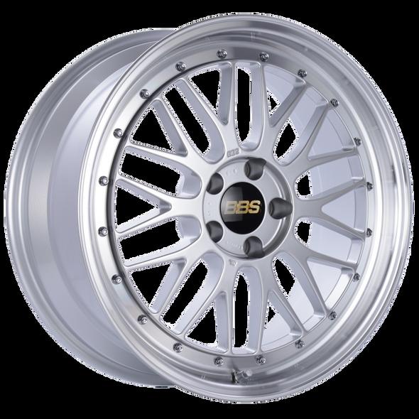 BBS LM 19x8.5 5x112 ET32 Diamond Silver Center Diamond Cut Lip Wheel -82mm PFS/Clip Required