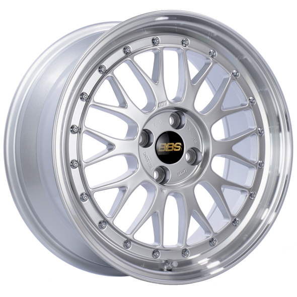 BBS LM 17x7.5 4x100 ET40 Diamond Silver Center Diamond Cut Lip Wheel -70mm PFS/Clip Required