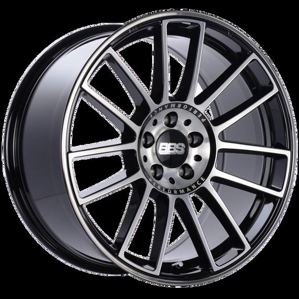BBS CM 19x9.5 5x112 ET28 Gloss Black Diamond Cut Face Wheel -82mm PFS/Clip Required