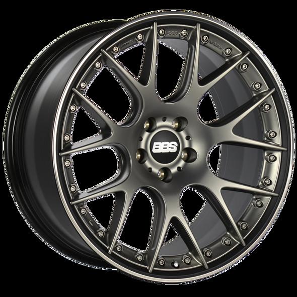 BBS CH-RII 21x10.5 5x112 ET17 Satin Platinum Center Black Lip SS Rim Prot Wheel -82mm PFS/Clip Req