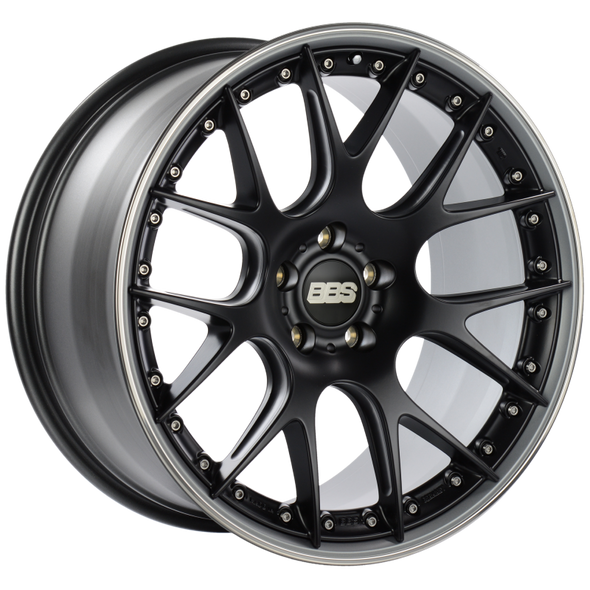 BBS CH-RII 21x11.5 5x120 ET36 Satin Black Center Platinum Lip SS Rim Prot Wheel -82mm PFS/Clip Req