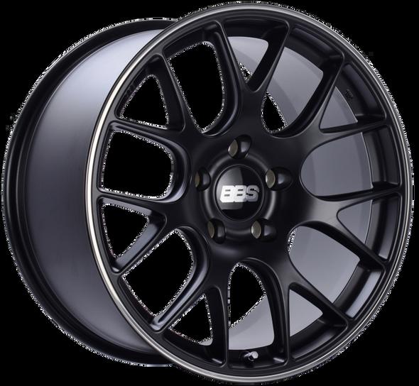 BBS CH-R 19x11 5x130 ET56 CB71.6 Satin Black Polished Rim Protector Wheel
