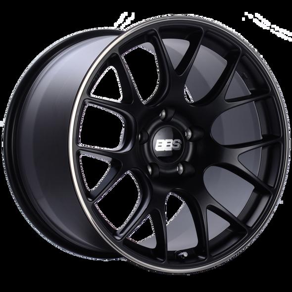 BBS CH-R 19x12 5x130 ET45 CB71.6 Satin Black Polished Rim Protector Wheel