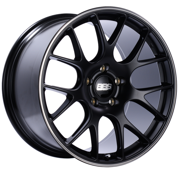 BBS CH-R 20x11.5 5x130 ET65 CB71.6 Satin Black Polished Rim Protector Wheel