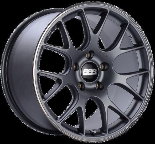 BBS CH-R 19x11 5x130 ET56 CB71.6 Satin Titanium Polished Rim Protector Wheel