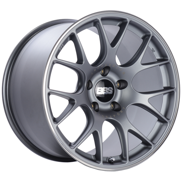 BBS CH-R 19x12 5x130 ET45 CB71.6 Satin Titanium Polished Rim Protector Wheel