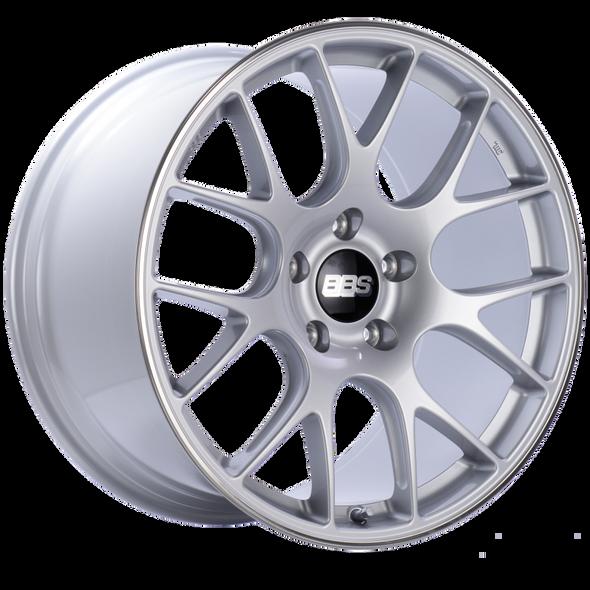 BBS CH-R 20x11.5 5x130 ET65 CB71.6 Brilliant Silver Polished Rim Protector Wheel