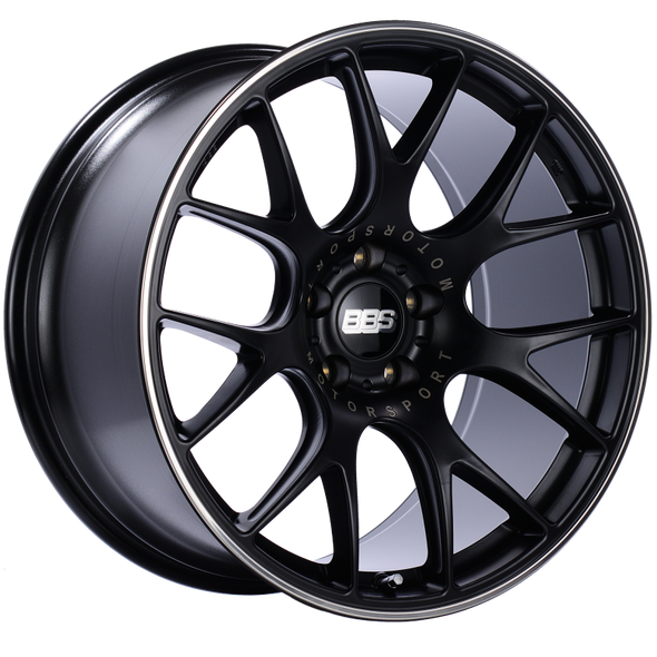 BBS CH-R 20x10.5 5x120 ET35 Satin Black Polished Rim Protector Wheel -82mm PFS/Clip Required
